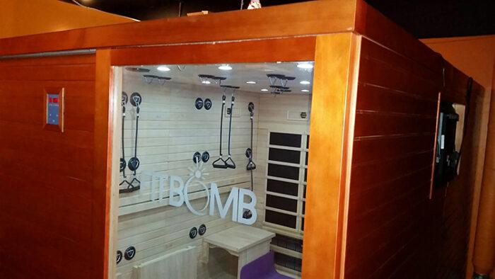 fitbomb infrared fitness sauna