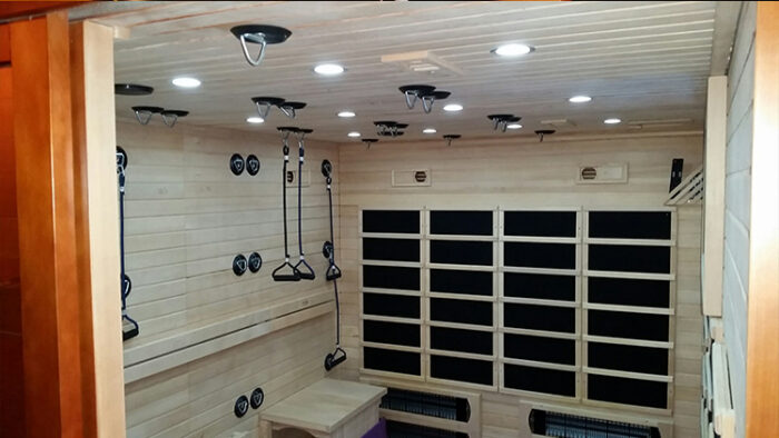 infrared sauna studio inside